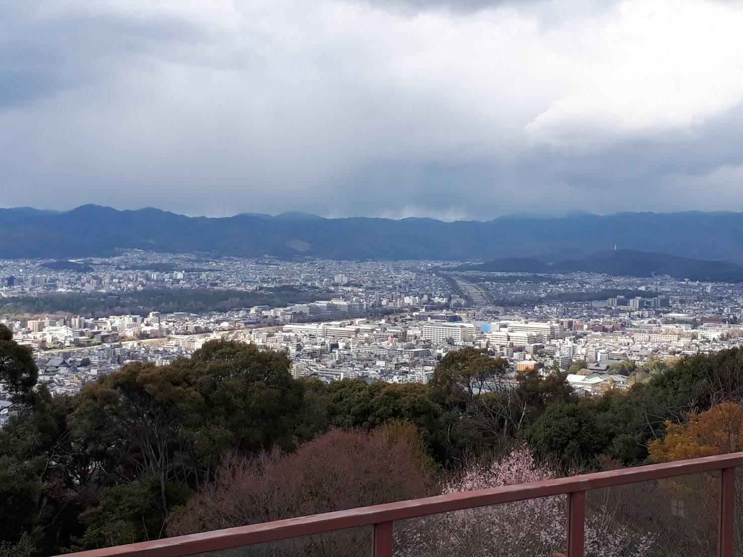 将軍塚から京都市北部