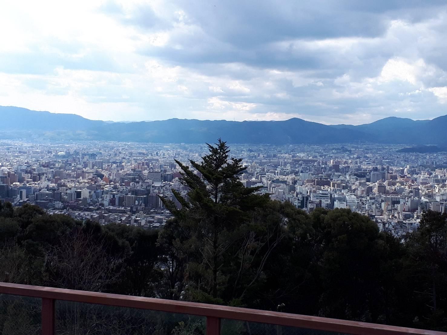 将軍塚から京都市南部
